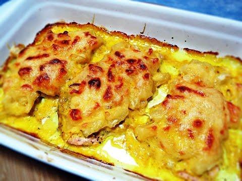 Куриные отбивные под ананасом и сыром | Отбивные с ананасом | Отбивные с сыром - DomaVideo.Ru