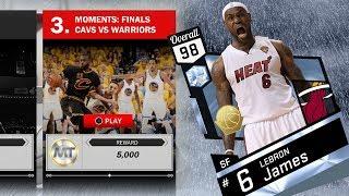 NBA 2K17 My Team - Diamond Heat LeBron James 98 Overall! PS4 Pro