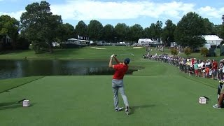 Jordan Spieth nearly aces No. 9 at the TOUR Championship by PGA TOUR