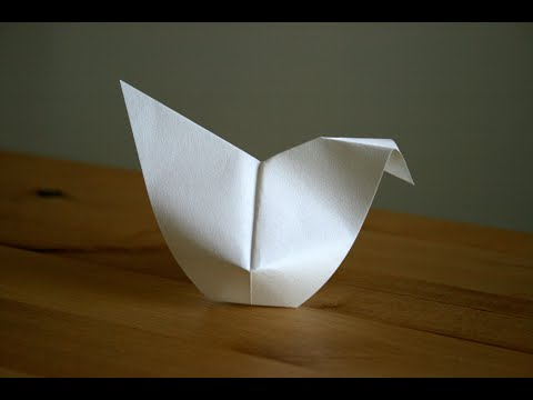 Origami - Poule de Pques