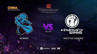 Newbee vs Invictus Gaming, TI9 Qualifiers CN, bo1 [4ce & Eiritel]
