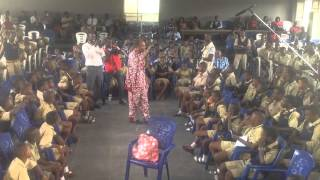Femi Kuti Sings For Students Of Igbobi College, Lagos