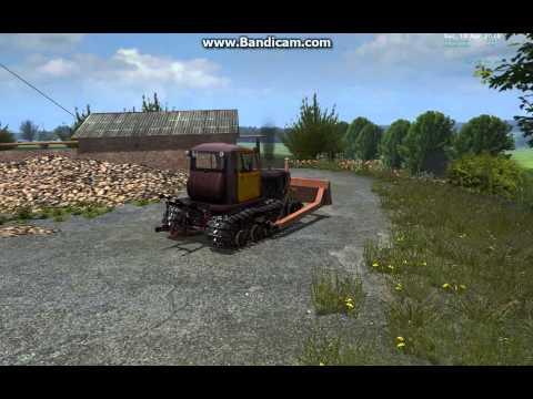 болотоходный трактор ДТ-75 Б с отвалом