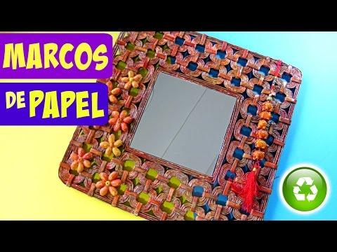 Un Marco para fotos ....reciclando papel de diario | Manualidades