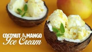 Coconut and Mango Ice Cream by Home Cooking Adventure