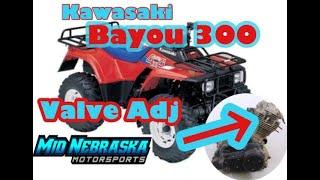 4. Kawasaki Bayou 300 Valve Adjustment - Finding Top Dead Center Clearance TDC - Specs