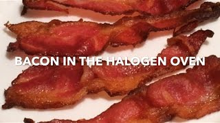 I made bacon in the halogen oven to compare with making it in the George Foreman grill (my usual way). There are advantages either way. Cooking time: 23 ...
