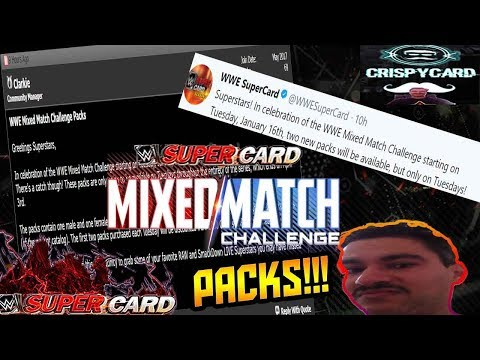 WWE SUPERCARD MIXED MATCH CHALLENGE PACKS UPDATE!!!