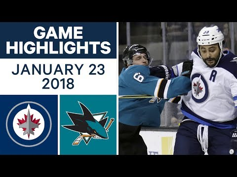 Video: NHL game in 4 minutes: Jets vs. Sharks