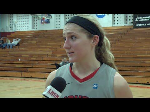 Caroline Naumann Post Game vs Ferrum College