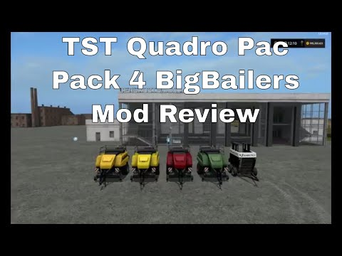 Pack 4 BigBalers 1 axle v1.0.1.0