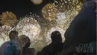 http://off2brazil.com have filmed for you the fireworks of Copacabana in Rio de Janeiro. Shot from the sea, this is one of the biggest in the World, it was particularly impressive this year... Find out about more things to do in Rio and all over Brazil on our site and don't hesitate to subscribe our channel, share it  and leave as comment if you like it!Travel Guide Rio de Janeiro: http://off2brazil.com/rio-de-janeiro