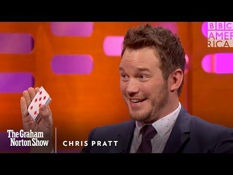 Chris Pratt esittää hauskan ja huikean korttitempun