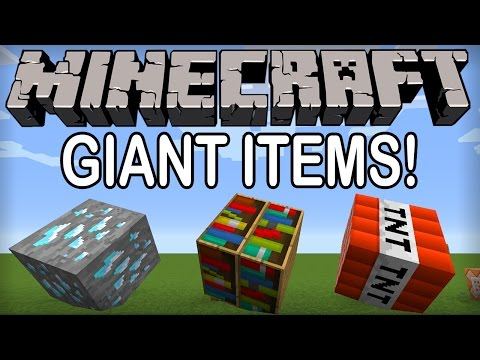 ★ Minecraft – GIANT ITEMS USING COMMAND BLOCKS! (Minecraft Tips and Tricks) – 1.8.3 / 1.8