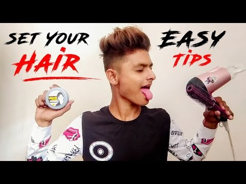 How To Set Your Hair  Mens Hairstyles  Ronnyy Prajapati