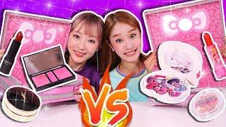 Video [Kids Make Up VS Real Make Up] Random Cosmetics Drawing Lots MP3, 3GP, MP4, WEBM, AVI, FLV Agustus 2018