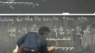 Poiseuille Flow - Pressure-driven Flow Between Flat Plates - Solution