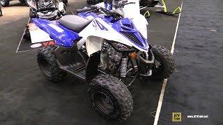 10. 2018 Yamaha Raptor 90 Sport ATV - Walkaround - 2017 Toronto Snowmobile ATV Show
