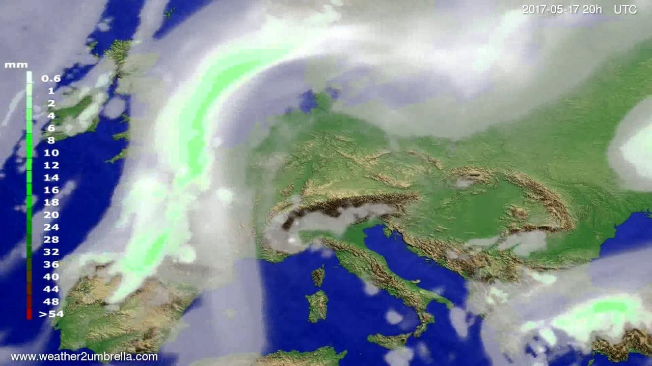 Precipitation forecast Europe 2017-05-15