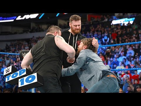 Top 10 SmackDown LIVE moments: WWE Top 10, March 20, 2018_Sport videók