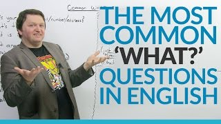 "What's one of the most difficult parts of learning a language? Asking questions! In this important lesson, I make it easier by looking at more than 10 common WHAT questions. This video includes these questions and more: ""What's happening?"", ""What's up?"", ""What's that?"", ""What did you do?"", and ""What's the point?"" So what are you waiting for? Watch the video to improve your English speaking confidence and fluency.Take a quiz on this lesson! https://www.engvid.com/the-10-most-common-what-questions-in-english/TRANSCRIPTQue? Mah? Ta? Qua? Cosa? What?Doesn't matter what language you say it in, the word: ""what"" means you want more information. Hey, everyone. I'm Alex. Thanks for clicking, and welcome to this lesson on: ""Common 'What' Questions"" in English. So, we are going to look at a bunch of questions that use the word ""what"". Now, again, ""what"" means you're usually looking for more information. It's one of the most common question words, which is why this lesson is important for you guys. Just like the other question lessons, we are going to focus on pronunciation, fluency, and... What was that thing? Pronunciation, fluency, structure. Definitely the structure. Very important to make sure the words are in the correct order. Whew, I'm out of breath, guys.Okay, let's go. Here we go. Number one: ""What is your name/email/number/address?"" So, you can ask a person for their name, for their email, for their address, for their phone number. You can also say: ""What's her name?"", ""What's his name?"", ""What's their address?"" for example. Okay? So, repeat after me and try to focus on quickness and fluency: ""What's your name?"", ""What's her email?"", ""What's his number?"", ""What's their address?"" You can even ask yourself, for example, if you forget something, like: ""What's my password?"" Okay? Like for your bank account, or your Facebook, or something you signed up for like many years ago or you've had the password automatically set, you can say: ""What's my password. Wait. What's my login again?"" Okay?So, next, very common: ""What's this?"", ""What's that?"" Okay? Many contexts. I'm thinking of a restaurant, for example, your friend gets something that you have never seen before and you're like: ""Oh. What's that? That looks delicious."" Okay? Or you get a meal and you didn't order it, you'll say: ""What's this?"" Okay? So please repeat after me, and again, focus on quickness: ""What's this?"", ""What's that?"" Very good.And next, similar to: ""What is this?"", ""What is that?"": ""What is it?"" Okay? Now, this question can be used in many different contexts. It could be similar to: ""What's this?"", ""What's that?"", ""What is it?"" It can also be a question you can ask someone if you think something is bothering, like, your partner or your friend or somebody in your life who you care about, and you can say: ""What's wrong?"" Like: ""What is it?"" Okay? So, this is a very common question if you want to ask a person you care about, you know, if something is wrong and what you can do to help. Like: ""What is it? What's wrong?"" Okay?Next, very common: ""What are you doing?"" Now: ""What are you doing?"" present continuous question can mean: ""What are you doing now?"" Like, you're talking on the phone: ""Hey. What are you doing? Oh, you're busy? Okay. Can I call you later? Yeah, sure? Okay."" You can also use this to talk about the future, like: ""What are you doing later?"", ""What are you doing tonight?"", ""Hey. What are you doing tomorrow?"", ""What are you doing this weekend?"" for example. Okay? So, it just asking... You know, it is just asking a person what they are doing in the moment or their plans for later as well. All right? So repeat after me: ""What are you doing?"" Very good.All right, the next three, I'm going to talk about these in the context of asking a person, you know, like what is new in their life or what is going on, what's happening, what's up. Those three questions precisely. So: ""What's going on?"" or: ""What's happening?"", ""What's up?"" The context I'm thinking of, you're seeing a friend you haven't seen for a while and you can say: ""Hey. What's up?"" or: ""Hey. What's happening?"", ""Hey. What's going on?"" These questions just ask and they mean, like: ""What is new in your life?"" Now, a very common mistake that people make with: ""What's up?"" specifically new English speakers is they think that: ""What's up?"" means: ""How are you?"" ""What's up?"" is not: ""How are you?"" So sometimes I hear... I say: ""Hey. What's up?"" and a student will say: ""Good. You?"" That's not how you answer: ""What's up?"" The most common answers for: ""What's up?"" are: ""Not much."" or ""Nothing new."" Okay? ""Nothing much."", ""Not much."", ""Nothing new is happening."""