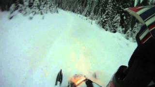 9. Ski-doo xp Riding in 5ft of pow