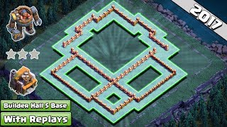 Clash of Clans – We are here with the new and updated COC Builder Hall 5 Base. No one can get even 1 star from this base. But you also need good attacking strategy than your opponent.Hope You guys like this base. If you do then please like and share this video.SUBSCRIBE to my Channel if you have not subscribed it yet because many good bases are coming soon that you don't want to miss. ----------------------------------------------------------------------------------------------------------------Subscribe : https://goo.gl/52Hu3iFacebook Page : https://www.facebook.com/baseofclans/twitter : https://twitter.com/BaseofClansClash of Clans is an addictive multi-player game which consists of fast paced action combat. Build and lead your personalized armies through enemy bases taking gold, elixir and trophy's to master the game and become a legend. Up-rise through the realms and join a clan to reign supreme above all others.----------------------------------------------------------------------------------------------------------------Music Provided by NoCopyrightSounds 1. Song: Jim Yosef - Canary [NCS Release]     Video link: https://www.youtube.com/watch?v=52R3Xy82nFc2. Song: Jim Yosef - Speed [NCS Release]    Video Link: https://youtu.be/lP6mK2-nLIk    Download Link: http://NCS.lnk.to/Speed----------------------------------------------------------------------------------------------------------------Related Searches:builder hall 5,builder hall 5 base,builder hall 5 best base,builder hall 5 attack,builder hall 5 trophy base,builder hall 5 base layout,builder hall 5 anti 2 star,builder hall 5 base defense,builder hall 5 layout,clash of clans th5 base,clash of clans th5 unbeatable base,clash of clans th5 best base,clash of clans th5 best trophy base,coc builder hall 5 base design,coc builder hall 5 best base,coc builder hall 5 layout,coc builder hall 5 base layout,coc builder hall 5 best layout,