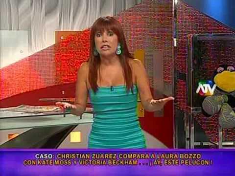 El horrible trasero de Laura Bozzo es mostrado y su novio la defiende (Magaly TeVe 14-04-10)
