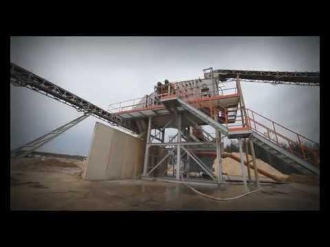 Linia automatycznej segregacji surowców mineralnych / Automatic screening plant for raw materials