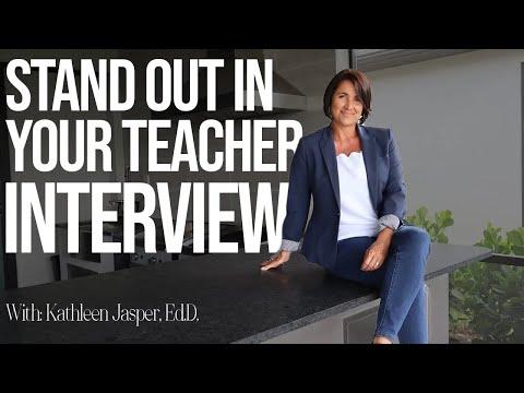 Stand Out in Your Teacher Interview | Kathleen Jasper | NavaED
