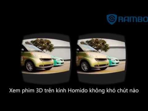 Hướng dẫn xem phim 3D trên kính thực tế ảo Homido
