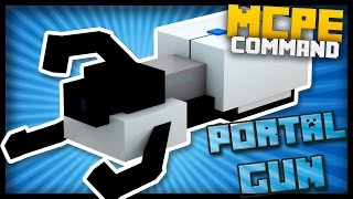 MCPE - How to Make a Working PORTAL GUN with Command Blocks!