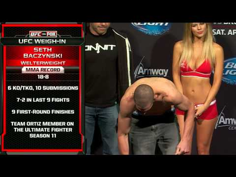Official - Watch the official weigh-in for FOX UFC Saturday: Werdum vs. Browne, live Friday, April 18th at 4pm/1pm ETPT.