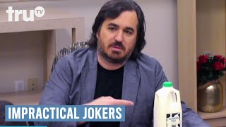 Q explains to the group how milk and jalapeños taste great together.SUBSCRIBE to get the latest truTV content: http://bit.ly/truTVSubscribeCheck out videos from Impractical Jokers: http://bit.ly/IJTruTVCheck out videos from Billy On The Street: http://bit.ly/BillyOnTheStreetCheck out videos from Adam Ruins Everything: http://bit.ly/ARETruTVCheck out videos from The Carbonaro Effect: http://bit.ly/TheCarbonaroEffectCheck out videos from Comedy Knockout: http://bit.ly/ComedyKnockoutCheck out videos from Hack My Life: Inside Hacks: http://bit.ly/HackMyLifeCheck out videos from Talk Show The Game Show: http://bit.ly/TalkShowTheGameShowCheck out videos from Upscale with Prentice Penny: http://bit.ly/UpscaleWithPrenticePennySee more from truTV: http://bit.ly/FunnyBecauseItsTRULike truTV on Facebook: http://bit.ly/truTVFacebookFollow truTV on Twitter: http://bit.ly/truTVTweetsFollow truTV on Instagram: http://bit.ly/truTVInstaAbout Impractical Jokers:If laughter is contagious, these guys should be quarantined! Q, Sal, Joe and Murr have entertained each other for years with the most hilarious practical jokes they could imagine. Now these real-life best friends are challenging each other to the most outrageous dares and uproarious stunts ever to be caught on hidden camera.About truTV:Seen across multiple platforms in 90 million households, truTV delivers a fresh and unexpected take on comedy with such popular original series as Impractical Jokers, Billy on the Street, The Carbonaro Effect, Adam Ruins Everything, Hack My Life and Fameless, as well as the original scripted comedy Those Who Can't. The fun doesn't stop there. truTV is also a partner in airing the NCAA Division I Men's Basketball Championship.Impractical Jokers: Inside Jokes - Jalapeño Milk  truTVhttp://bit.ly/truTVSubscribe
