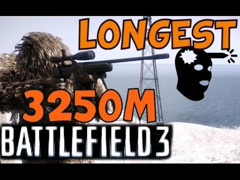 3250,21m Longest headshot with sniper - Battlefield 3