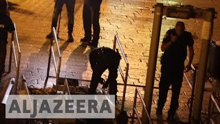 Israel removes metal detectors from al-Aqsa Mosque compound Israel began removing metal detectors from al-Aqsa Mosque compound on Monday night and says new s...