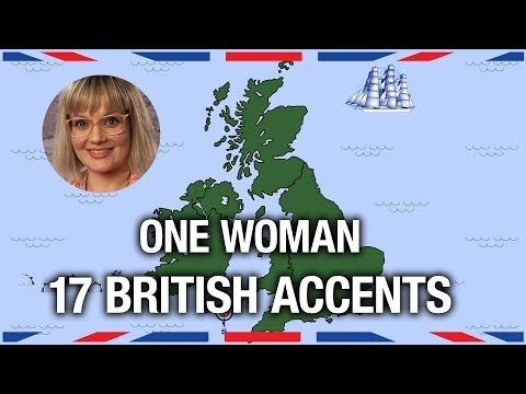 One Woman 17 British Accents