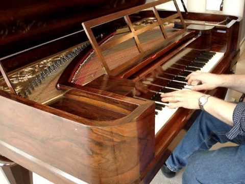 chickering piano - This lovely Chickering rosewood square grand was built about 160 years ago in Boston, only one year before company founder Jonas Chickering died, and two yea...
