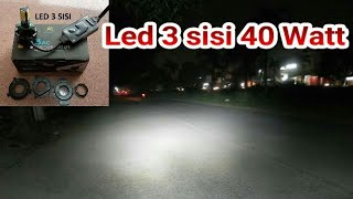 Video Pasang Lampu Led 3 sisi di motor BeAT | 40 watt | arus Ac - Dc MP3, 3GP, MP4, WEBM, AVI, FLV Desember 2018