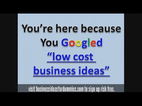 Low cost business ideas | Small investment startups 2014