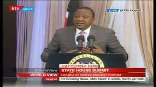 President Uhuru Kenyatta's speech during State House Energy Summit
