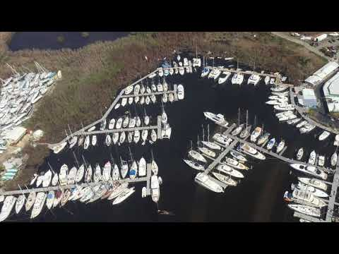 9/17/17 Aerial Footage Sapphire past Red Hook St Thomas USVI after Hurricane Irma