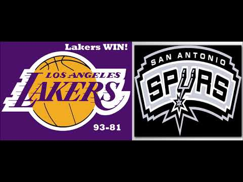 Lakers Def Spurs!!! (Stats/Results)