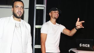 Steph Curry Dances With French Montana At Launch Of Curry 3's by Obsev Sports
