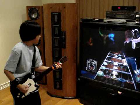 Guitar Hero 3 Through the fire and flames Insane 11 Year old