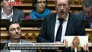 O PCP levou hoje ao plenário da Assembleia da República, a proposta de realização de um Inquérito Parlamentar sobre as decisões tomadas envolvendo os Estalei...
