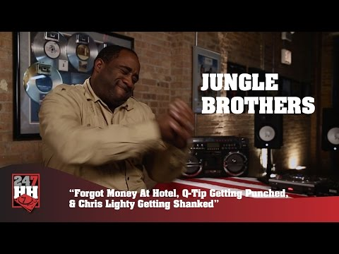 Jungle Brothers - Forgot Money, Q-Tip Got Punched, Chris Lighty Shanked (247HH Wild Tour Stories)