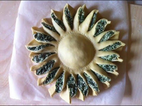 torta girasole con ricotta e spinaci