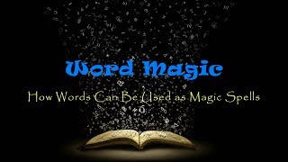 "Word Magic - How Words Can Be Used as Magic SpellsBy: Pao Changhttp://energyfanatics.com/Words are not just elements of speech or writing, because they can be used to strengthen the effects of magic, which is the art of directing and controlling energy. When spoken out loud, words transform into frequencies and vibrations that can be used to direct energy. This is one of the first steps to creating magic effects.Most people will laugh at the idea of magic being real, but if only they knew what magic really is and how magic is being used to control them, they would not be laughing. The world is dominated by magic. Until you train your eyes to see how magic is used to control you, you will never know how the world really works.The Controllers who pull the strings of politicians are well aware of how magic works. Many of them actually practice the art of magic, which is why they are sometimes referred to as the Dark Magicians. Unfortunately, they like to use magic for power and evil purposes, instead of using it to change the world into a better place.The most powerful thing in the Universe is energy. If you learn how to control and direct this energy, you will become one of the most powerful people on Earth. Why do you think the Controllers (the Dark Magicians) are so obsessed with magic and energy?What is the Definition of Magic?Here is an excerpt from my book titled Word Magic: The Powers & Occult Definitions of Words that explains what magic is:The word magic is derived from Old French magique, Latin magicus, and Greek magikos. One of the earliest definitions of magic is the ""art of influencing events and producing marvels using hidden natural forces"". Magic has a strong relation with magnetic and electrical energy. Did you notice that the word magnetic has the word magic in it? Take out ""net"" in ""mag-net-ic"" and you are left with the word magic.The art of magic is often practiced along with certain words and sacred geometries. The common words that are used in magic rituals are the words that produce powerful sound tones when spoken out loud. These sound tones have powerful vibrational patterns, which are used to direct and control energy and harness its power.Sound is able to direct energy for the reason that it carries certain frequency patterns that attract energy to flow in a controllable manner. Furthermore, sound is one of the natural forces used by Nature to create crystalline structures and sacred geometries, which are some of the building blocks of matter.For strong evidence that sound can direct energy, watch the video below.For more enlightening information and videos about how sound creates structures and sacred geometries, read my article titled Understanding the Magic of Nature and Embracing It to Make Life Fun, Happy and Enjoyable Again.The Power of WordsPLEASE Consider making a Donation because YouTube has disabled most of my video's for revenue and without that I can't afford the time to make these video's... Much Love and Thank you :)PayPal Donation Link: https://www.paypal.com/ca/cgi-bin/webscr?cmd=_flow&SESSION=TiO60vTD_2y-u5Q-nc__7fdJ7LS6kh6VXd5ojmzIw8XlQsfJ3zzZ0FHkxCm&dispatch=5885d80a13c0db1f8e263663d3faee8d94717bd303200c3af9aadd01a5f55080website for news - http://369news.netwebsite for universal truth -  http://www.369universe.comPlease support me on Vidme - https://vid.me/GaryLite"
