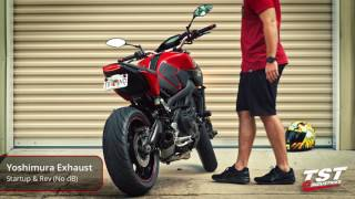 9. Epic Exhaust Sound Yamaha FZ-09:  Yoshimura R-77 Full System